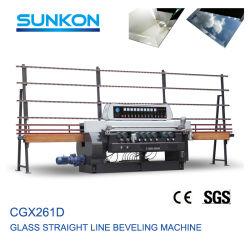 유리 가공을%s 테두리 기계를 경사지는 9개의 스핀들 (CGX261D)