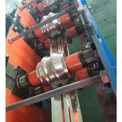 Tuyau de forme ovale plat Stleel conduit en acier ondulé Making Machine