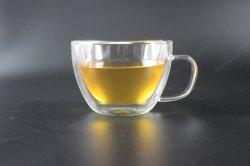 Heat-Resistant Vidrio de borosilicato 400 ml media taza de café de gran calibre
