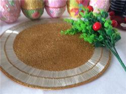 工場直接販売の処理およびカスタムビーズのマットのハンドメイドのコップのMatdishesディスクパッドの夕食のフラグ表マットの茶表マットの熱絶縁体のパッド72