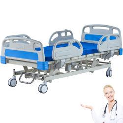 La fabricación de fábrica de 65 grados de ángulo del respaldo del bastidor de acero rígido eléctrico ajustable en altura con colchón cama de hospital