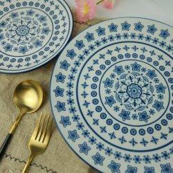 Piatto di pranzo di ceramica personalizzato della porcellana del piatto di stampa della decalcomania di marchio