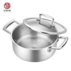 أواني الطهي الصينية في وعاء الطعام من التيتانيوم ستوك بوتس مع غطاء من الفولاذ المقاوم للصدأ