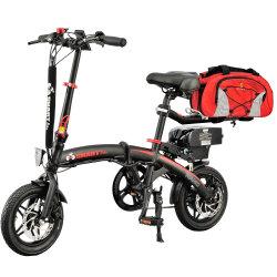 순환 데이트 12inch 250W 소형 모터 전기 접히는 자전거 작은 전기 발동기 달린 자전거 Sepeda Listrik 여행 부대는 안락 시트에 유효하다