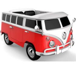 Oltre il campeggiatore Van del T1 di Volkswagen di infinità, giro a pile 12V sull'automobile elettrica dei giocattoli