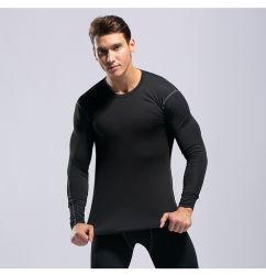 カスタマイズされた高品質の圧縮の人のトレーニングのTシャツのスポーツシャツ
