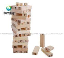Les enfants classique en bois Creative & capacité mathématique de formation et de développer le nombre d'enseignement et drôle de blocs de construction en briques de jouets intelligents