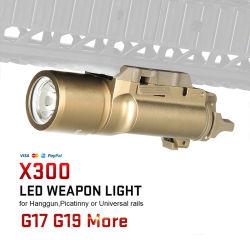300lm de lumière LED Lampe torche tactique CR123A HK15-0026