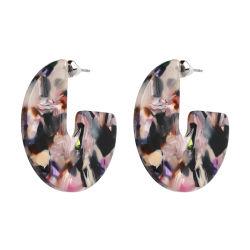 Commerce de gros 2018 Haut de la conception des femmes Accessoires bijoux de mode en alliage de cuivre de façon géométrique en Acrylique Crystal Square Drop Earrings