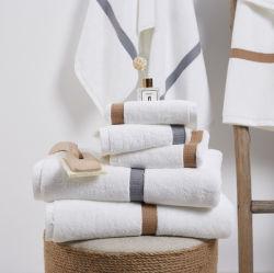 Kundenspezifische organische Baumwollstellt weiches Bad-Tuch des Firmenzeichen-Luxus-100% Handtuchwashcloth-Tuch ein