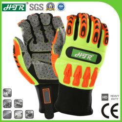 Resistente ao impacto antiderrapagem luvas de trabalho mecânico de segurança com protecção mão TPR