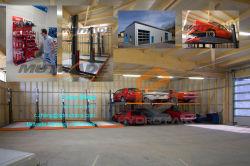 Auto's die Gebruik Twee parkeren van de Garage van de Apparatuur van de Lift van het Systeem de Post Opheffende Lift van het Parkeren van de Auto