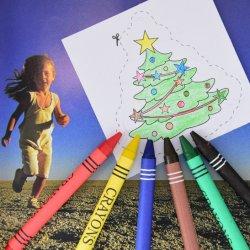 Weihnachtsgeschenk-Briefpapier ungiftige 6 PCS-Wachs-Zeichenstifte und 8 PCS-Zugnummern im Farben-Kasten