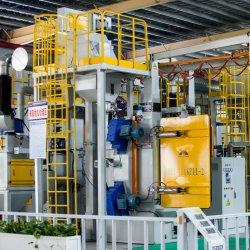 中国の工場によって渡されるセリウム及びアルミ鋳造の一部には使用される販売LEDの軽い金属部分のショットブラストのクリーニングのためのISO Q37シリーズフックショットの発破機械