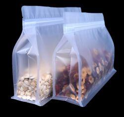 Pequenos camarões secos Mylar plástico reciclável de fundo plano Mate Pouch para frutos de plantas daninhas ervas secas Peaberry recipiente de armazenamento de frutas baixa quantidade mínima de Choco caju