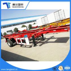 3 осей 40t скелет Semi-Trailer контейнера для транспортировки контейнеров