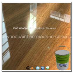 China Top 10 Marca de tintas de cura UV de Piso Elevado Brilho claro 95% de azulejos do piso de madeira de Pintura por Spray Edgeband Laca Verniz de acabamento