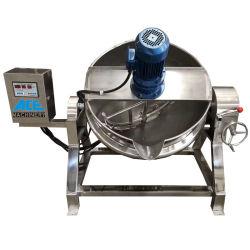 Ostruzione industriale di cottura rivestita del gas della caldaia del vapore elettrico da 500 litri che cucina POT con il miscelatore