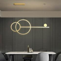 Conception moderne de la géométrie créatif Ehibition Hall lustre lampe concis de la télécommande
