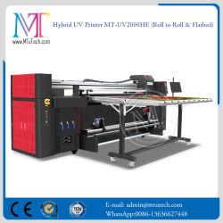 Jato de tinta digital rápido Industrial da fábrica de vidro/cerâmica/Impressora UV de mesa de plástico