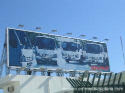 Triángulo de aluminio en carretera el desplazamiento de Publicidad en vallas Trivision Iluminación