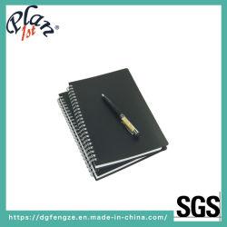 Un cuaderno de espiral5 5X8 con 80 gramos de grosor del papel y el Planificador de la tapa de PP