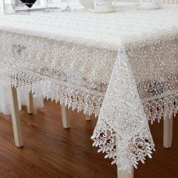 ジャカードカスタムロゴポリエステル結婚式のイベントのための円形のテーブルクロスの麻布