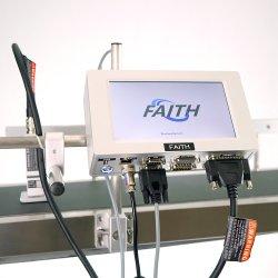 La foi de l'imprimante jet d'encre en ligne multifonction avec la courroie du convoyeur de l'encodeur sur le carton d'impression des sacs coupe en verre de câble de carte de tuyau