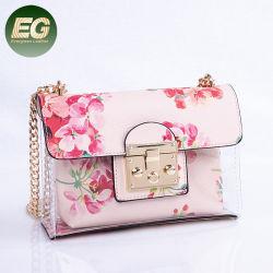 Прозрачный ПВХ небольшой вышивкой Bag девочек желе Crossbody дамской сумочке Sh474