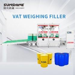 Contrôlés par le PLC automatique 100-300kg Type de pondération grand baril de pétrole Machine de remplissage de liquide de tambour