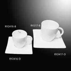 Conception unique de moka tasse de café avec soucoupe Commerce de gros