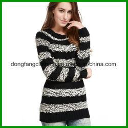 Großverkauf-späteste Form kleidet Dame-Winter-Wolle-beiläufige acrylsauerstrickjacke