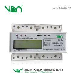 Contatore di energia su guida DIN/contatore di energia multifunzione/contatore di energia elettronico/tipo con guida trifase Contatore di energia elettrica- (tipo a binario) -3*1.5 (6) A.