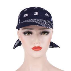 Kundenspezifischer Frauen Ployester Druck 100% Sports Hut-Formbandana-Schutzkappe