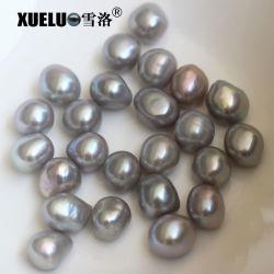 Pepita barroco gris de alta calidad de agua dulce naturales cultivadas suelta perlas de perlas para DIY