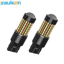 白いT20 7443 LEDの二重カラー3014 SMDか自動車運転の回転ライトのためのこはく色