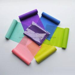 Le latex exercice coloré de bandes de résistance imprimé personnalisé