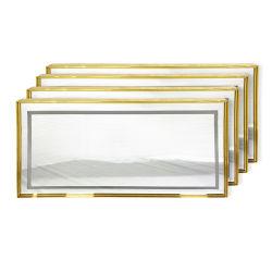 مرآة إطار فولاذية معدنية مع جدار مرايا داخلية LED مرآة للفيلا