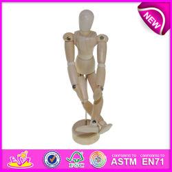 Регулируемый деревянная игрушка манекена, деревянный манекен чертежей, исполнителя деревянный манекен, манекенов Стороны, деревянных судов W06D041-B