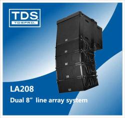 Dualer 8inch-Wege Line Array-Lautsprecher mit 2 kompakten Gehäuseparrays für die Ausstellung Soundsystem PA-Lautsprechersystem