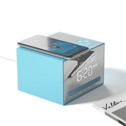 10W fasten drahtlose aufladenled Digitalanzeigen-Alarmuhr des Qi-Telefon-mit Bluetooth Lautsprecher