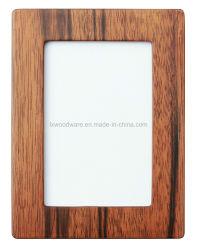 クルミのガラス窓が付いているSemi-Glossy木の芸術のクラフトの写真か額縁