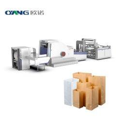 Haute vitesse fond carré sac de papier recyclé Making Machine Price, entièrement automatique du papier kraft Sac de Shopping de ligne de production Coût