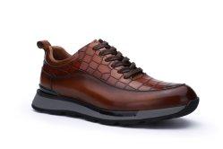 2021 Nuevo diseño dinámico de los hombres de cuero de la Oficina de alta calidad de zapatillas cómodas zapatillas