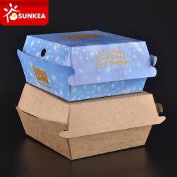 Jetables en papier de Fast Food Hamburger Box