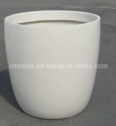 Fibra de vidro de alta qualidade para vasos de flores brancas decorativos jardim exterior