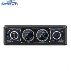 Autoradio 1 DIN Autoradio stéréo MP3 Player Lecteur multimédia audio de voiture Bluetooth mains libres de télécommande FM aux appels SD USB