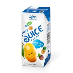 200ml de Drank van het Vruchtesap van de Mango van het Vakje van het document