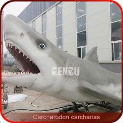 Lebhafte weißer Haifisch-Seetier-Modelle