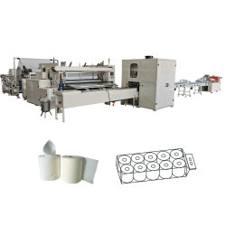 A cola totalmente automático Rolo de papel higiénico de Laminação Toalha de papel a linha de produção da Máquina